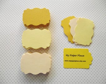 Bracket Cards-Escort cards-Tags-Journaling Spots -  free secondary US shipping