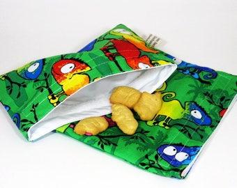 Chameleon Sandwich and Snack Bag Set