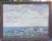 Vintage seascape painting signed
