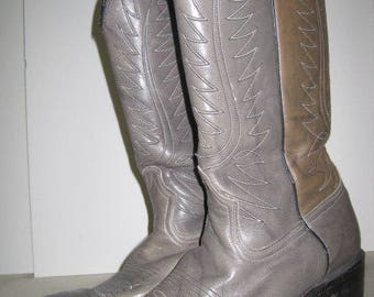 vintage Shades of Gray Cowboy Boots by Dan Post  size 9 1/2 D (mens) or 11D (womens)