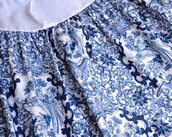 Ralph Lauren Bedskirt - Blue and White Tamarind Chinoiserie - Twin
