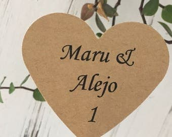 Custom Place Cards - Weddings, Showers and Celebrations, Table Numbers