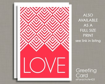 Valentine Card, Love Card, generic Valentine, Anniversary Card, Wedding Card, New Baby Card, Sweetest Day Card, Engagement Card, large card