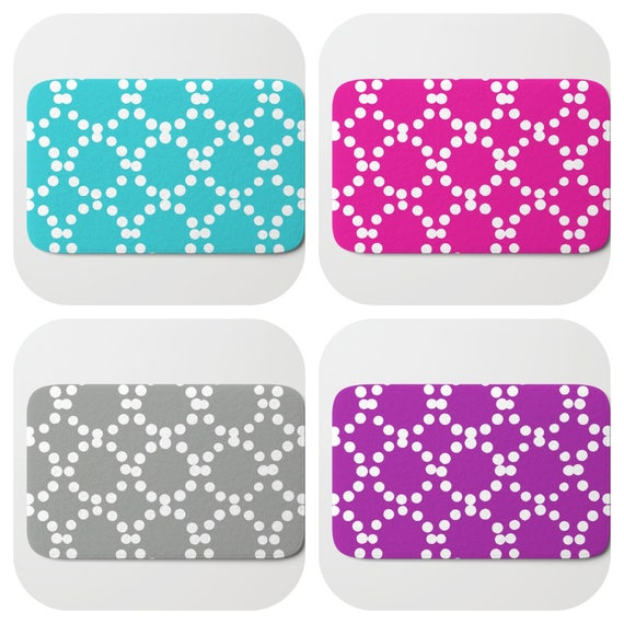 Bath Mat - Aqua Bath Mat - Magenta Pink Bath Mat - Bath Rug - Purple Shower Mat - Ring dot Rug - Turquoise Rug - Circle Rug - bath Rug