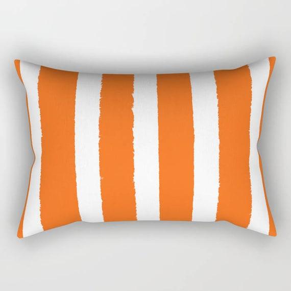 Orange Lumbar Pillow . Orange lumbar pillow . Orange Toddler Pillow . Striped Pillow . Orange Pillow . Modern Cushion Travel Pillow 14 x 20