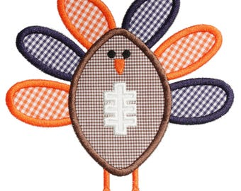 954 Football Turkey Machine Embroidery Applique Design
