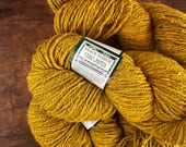 Peace Fleece yarn - Wild mustard, rustic wool yarn, knitting yarn, worsted weight, yarn for knitting, wool yarn worsted, crocheting yarn