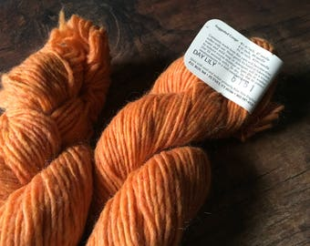 Orange wool - Green Mountain Spinnery - Mountain Mohair - Day Lily - knitting wool - worsted weight yarn