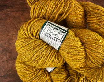 Worsted weight wool yarn for knitting - Cream Gold - Wild mustard - Peace Fleece - wool knitting yarn  - Misted Yellow mustard