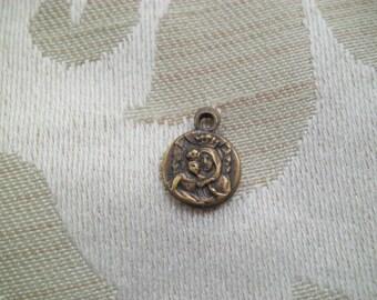 TINY ANTIQUE Vintage St Anne de Beaupre Wrist Watch Medal Charm