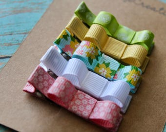 Summer Floral Clippie Set - Set of 5 Clippies