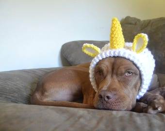 Unicorn Dog Hat - Dog Hat - Hats for Dogs - Gift for Pet Lovers - Animal Hat - Unicorn Hat - Doggie Hat