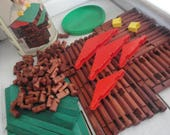 1970s Vintage Lincoln Logs Playskool Building Toy 149 Pieces