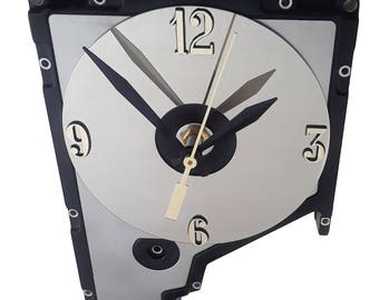 Early 1980s Hard Drive Cover Wall Clock. Cool Office Gift. FREE SHIPPING USA!
