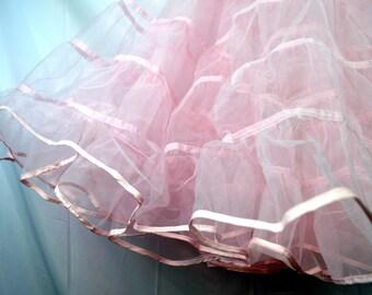 Vintage Pink Malco Modes Petticoat Tutu Crinoline