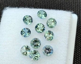 Kornerupine Rounds, Tanzanian Kornerupine,  3.6mm round Kornerupine, Kornerupine Gems, Tanzanian Gems, Blue Green Gems