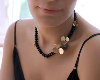 Statement Bib Necklace   Crystal Bib Necklace   Black Statement Necklace   Bib Necklace   Crystal Statement Necklace    Flower Bib Necklace