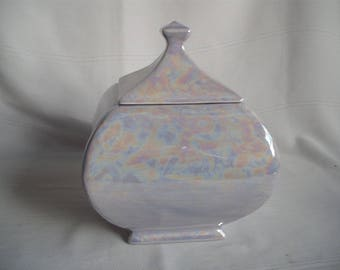 Ceramic Square Cremation Urn / Mother of Pearl