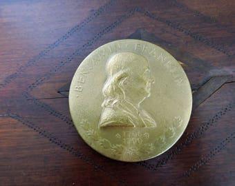 Benjamin Franklin Commorative Coin Medallion Marked JRS 1932