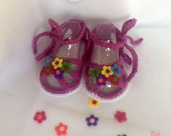 Crochet Baby Sandals, Cotton Crochet Baby Girl Sandals, Crochet Summer Baby Girl Sandals, Baby Girl Shoes, Crochet Baby Girl Shoes