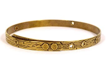 TierraCast Beadable Bangle - Antique Brass - Choose Your Quantity