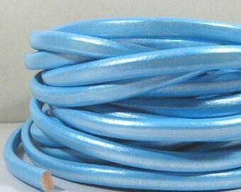 Regaliz Licorice Leather - Metallic Sky Blue - RM6 - Choose Your Length