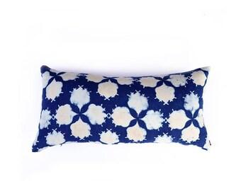 Indigo pillow blue pillow cover bohemian home boho lux boho chic block printed Decorative throw Pillow cotton - FILAMENT PILLOW COVER