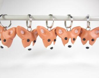 Basenji Stitch markers, Basenji charms, Basenji gift, knitting accessories, gift for knitters, dog gift, polymer clay, animal dog charm cute