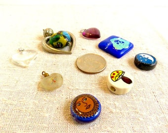 Various Glass and Ceramic Beads & Pendants *CLEARANCE*