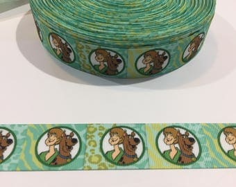 3 Yards of Ribbon 1 inch Wide - Inspired by Scooby Doo and Shaggy