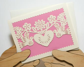 Bird Heart Wedding/Anniversary Card