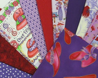 Red Hat Quilt Kit-Fast-Easy-Gorgeous Colors-Red Hat Fabrics-Perfect Quilt for the Red Hat Fan!