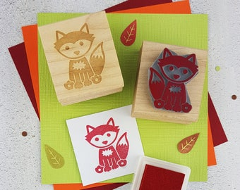 Fox Rubber Stamp - Woodland Stamper - Foxy Stamp - Gift for Animal Lover -  Card Making Supplies - Scrapbooking Stamp - Gift Nature