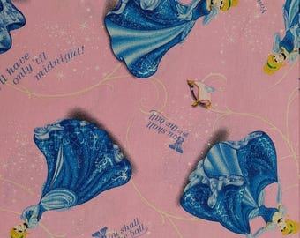 DISNEY's Cinderella  Print Fabric fabric---So Cute --HARD Find--40-70% off Patterns n Books SALE