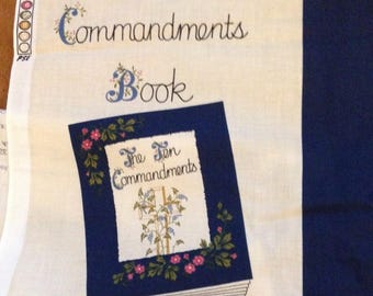 Fabric Panel- The Ten Commandments Fabric Book- Fabric Traditions -Cotton Fabric Cut And Sew