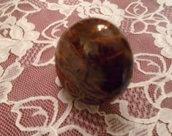 Antique Marble Door Knob Dark Brown Swirls Of Light Brown