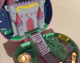 Vintage Polly Pocket Starlight Castle Compact from 1992