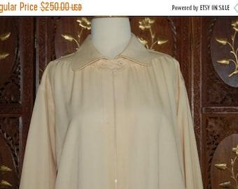 ON SALE 1970s GIVENCHY 5 Cream Tab Closure Jacket