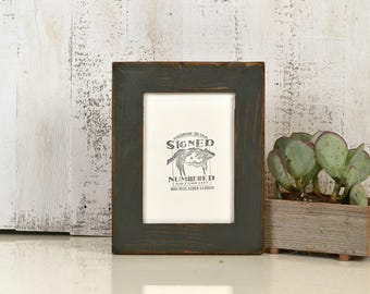 5x7 Picture Frame in Reclaimed Cedar Wood with Super Vintage Sable Gray Finish - IN STOCK Same Day Shipping - Upcycled Wood Frame 5 x 7