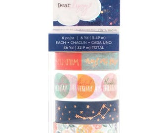 Dear Lizzy Star Gazer Washi Tape 6/Pkg (343433)