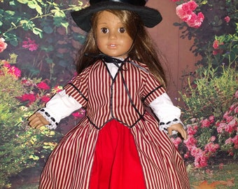 For American Girl Dolls - Authentic Welsh Costume, 5 piece outfit