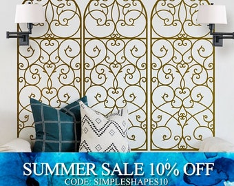 Decorative Panel Wall Decal,  Elegant Style Wall Decal, Living room Wall Decal Sticker