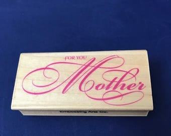 For You Mother Rubber Stamp, Mother's Day, Mom