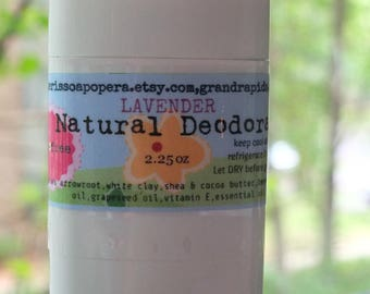 Lavender Deodorant-Talc Free Deodorant-All-Natural-Really Works without Chemicals!