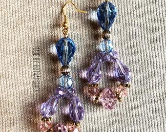 Evening Diva Multicored crystal shimmer earrings