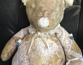 Victorian Teddy Bear crazy lace artist bear – Millicent Nicole