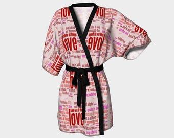 Love Is Kimono Robe