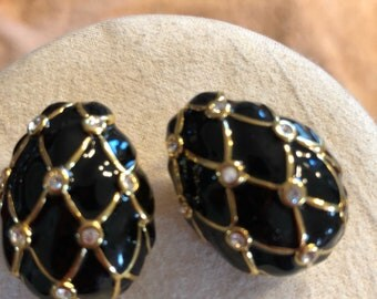 Nolan Miller clip back earrings