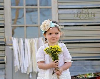 Fabric Garland Backdrop, Country Wedding Decor, Shabby Chic Baby Shower Gender Neutral Decorations, Farmhouse Decor Rustic Nursery, Rag Tie