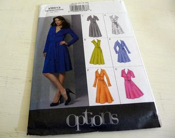 Vogue Dress Pattern V8613 Shirt Dress Sizes 8-16